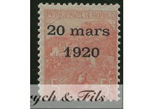 1919 MONACO N°43 TIMBRE POSTE MARIAGE x