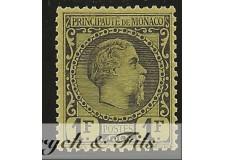 1885 MONACO N°9 TIMBRE POSTE PRINCE CHARLES III x