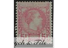 1885 MONACO N°10 TIMBRE POSTE PRINCE CHARLES III PLIE DE GOMME x