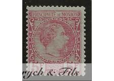 1885 MONACO N°10 TIMBRE POSTE PRINCE CHARLES III x