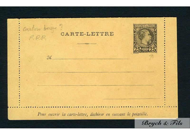 Carte-Lettre N°CHR (H3) sur carton beige