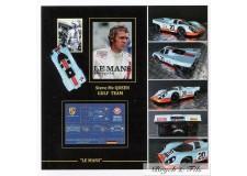 Autographe Photo Dédicacée Steve Mac Queen Gulf Team Le Mans