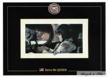 Autographe Photo Dédicacée Steve Mac Queen Pilote au Mans