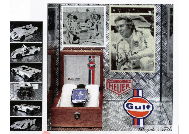 Steve Mcqueen Watch Gulf Heuer Signed Photo Autograph