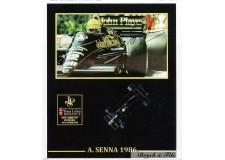 Autographe Photo Dédicacée Ayrton Senna F1 Lotus en 1986