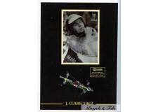 Autographe Photo Dédicacée Jim Cark avec F1 Lotus Climax 1963