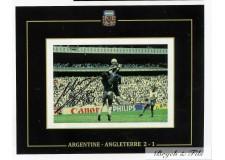 Autographe Photo Dédicacée Diego Maradona Match Argentine - Angleterre 1986