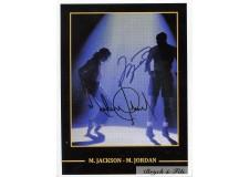 M. Jordan and M. Jackson Signed Photo Autograph