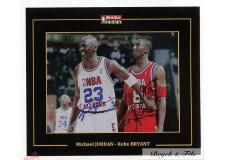 Autographe Photo Dédicacée Michael  Jordan & Kobe Bryant NBA 2003