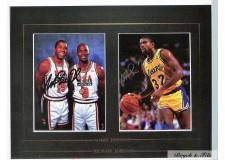 Photo Magic Johnson&Michael Jordan