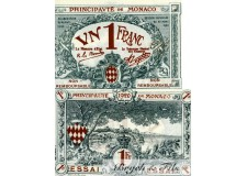 Billet Monaco 1 Fr bleu Essai 1920