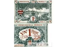 Billet Monaco 1 fr bleu série C 1920