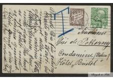 1905-09 Monaco Taxe N°4 Oblitéré Sur Carte Postal d'Autriche taxé à l'Arrivée