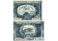 Billet Monaco 50 ct Essai 1920