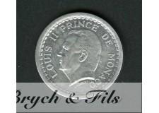 1 Franc Louis II de Monaco Aluminium Sans Date
