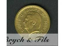 1 Franc Louis II de Monaco Bronze-Alu Sans Date
