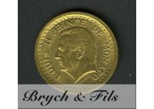 2 Francs Louis II de Monaco Bronze-Alu Sans Date