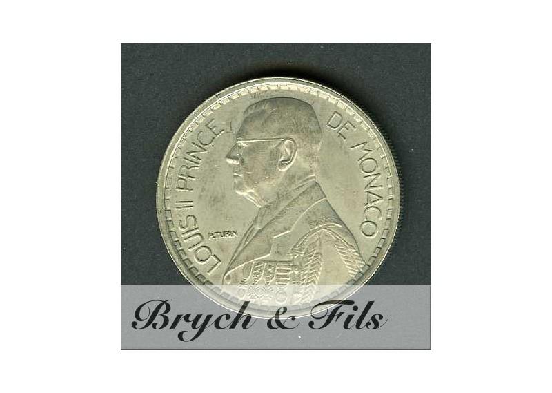 20 Francs Louis II de Monaco Cupro-nickel 1947