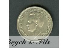 100 FRANCS RAINIER III 1956
