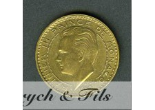 20 Francs Rainier III de Monaco Bronze-Alu. 1950