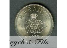 2 FRANCS DE MONACO 1979