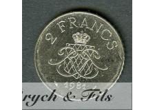 2 FRANCS DE MONACO 1981
