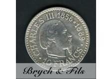 10 FRANCS CHARLES III ARGENT 1966