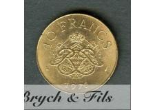 10 FRANCS DE MONACO 1976