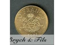 10 FRANCS DE MONACO 1977