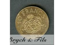 10 FRANCS DE MONACO 1979