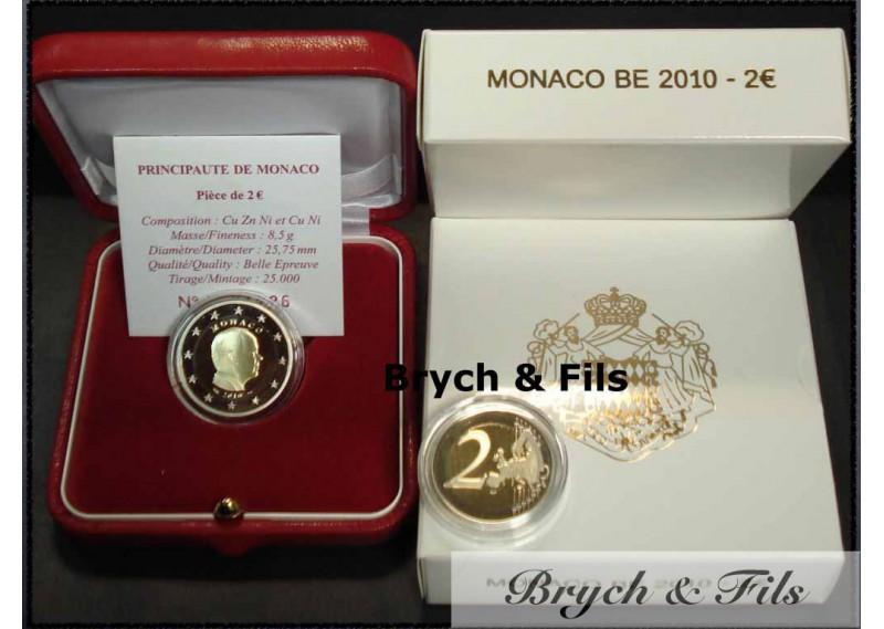 Belle Epreuve 2 Euros Monaco 2010 S.A.S. Albert II