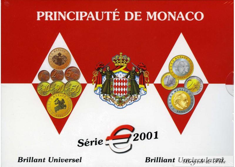 Euros de Monaco  Brillant Universel de Monaco 2001