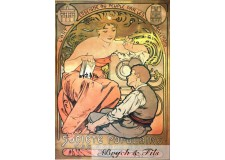 """Affiche originale A.Mucha """"Société Populaire"""""""