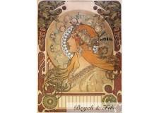 "Affiche originale A.Mucha ""Zodiaque"""