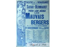 """Affiche originale A.Mucha """"Mauvais bergers"""""""