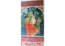 """Affiche originale A.Mucha """"6eme festival Sokol"""""""