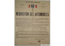 """Réquisition des Automobiles """"1"""""""